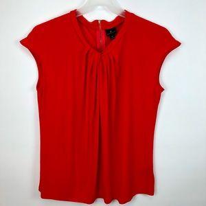 WORTHINGTON Red Sleeveless Blouse Stretch Top